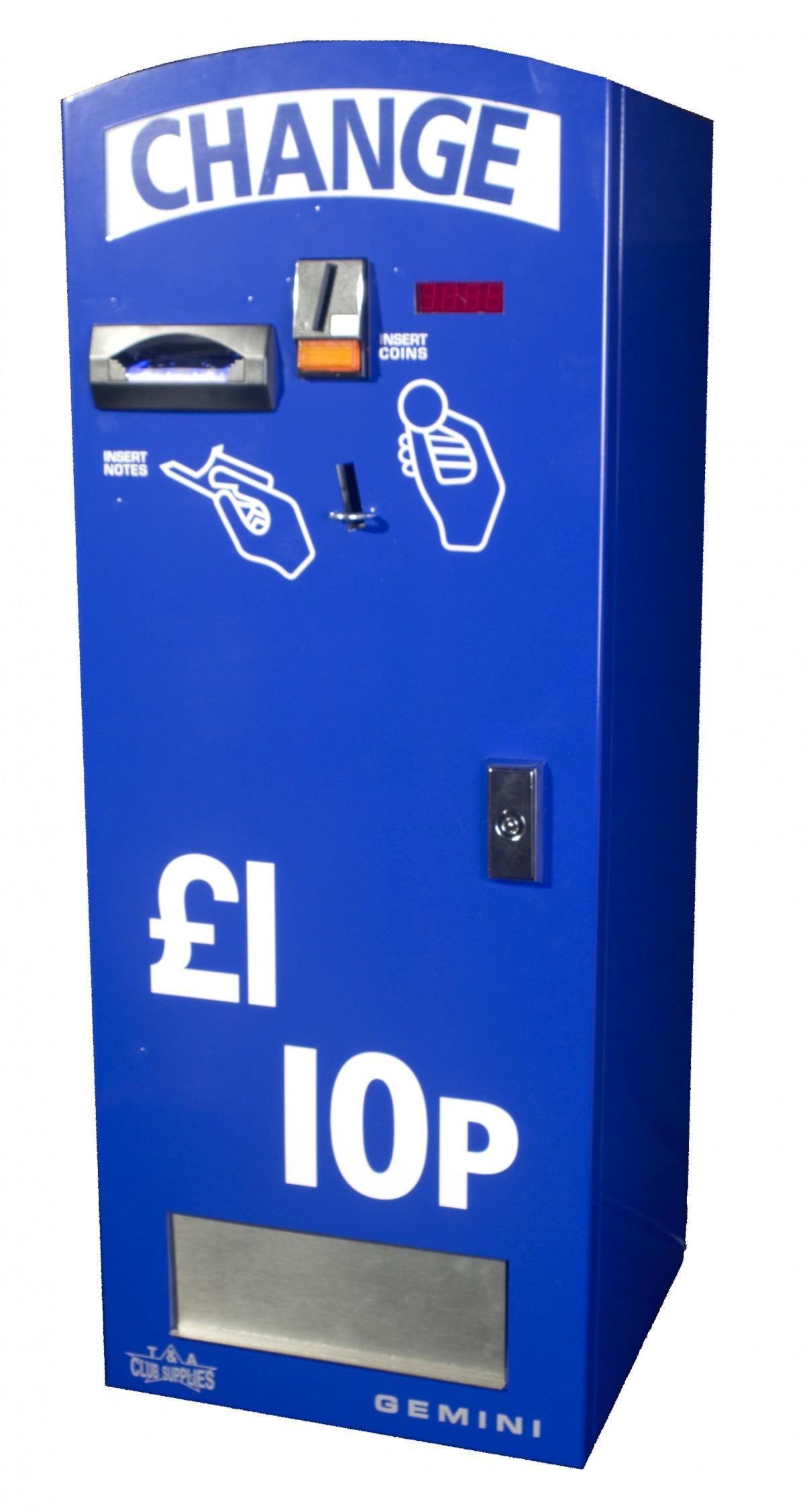 note to coin change machine uk