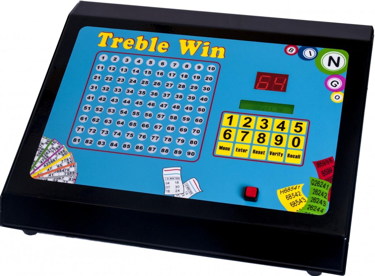 thomas and anca treble win electronic bingo raffle tote