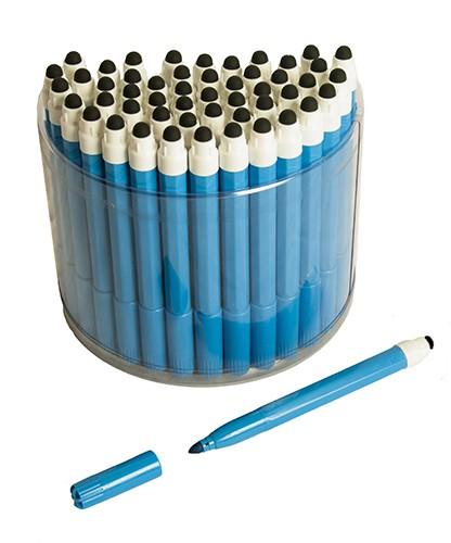 50 Blue 2in1 Touchscreen Stylus Felt Marker Pen