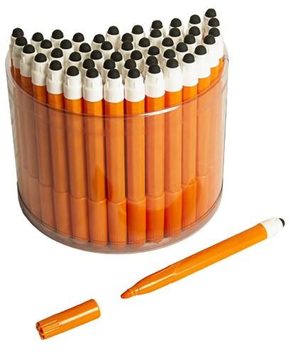 50 Orange 2in1 Touchscreen Stylus Felt Marker Pen