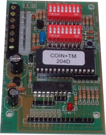 Coin + TM Timer Credit Board