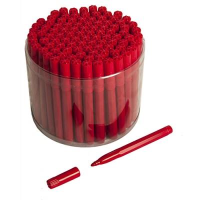 100 Red Bingo Jumbo Felt Pen Markers