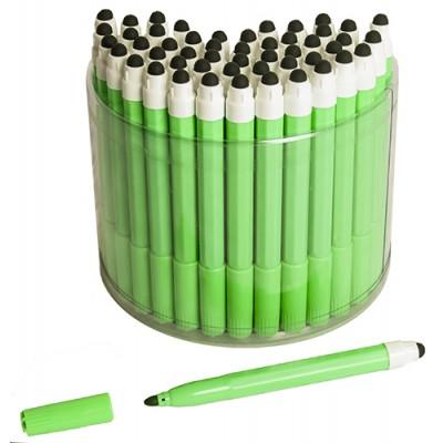 50 Green 2in1 Touchscreen Stylus Felt Marker Pen