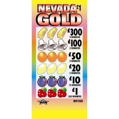 Nevada Gold £1 Pull Tab Lottery Ticket
