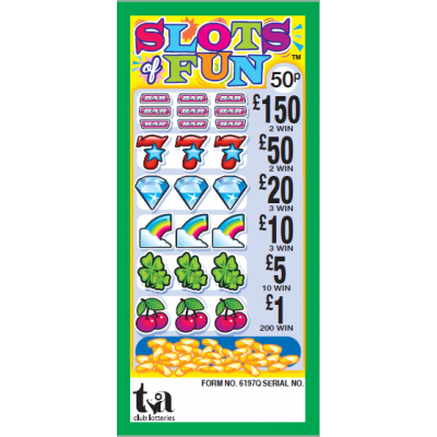 Slots Of Fun 50p Pull Tab Lottery Ticket