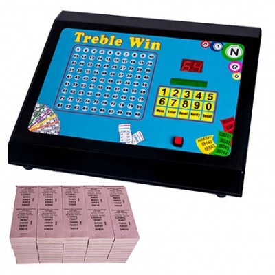 Treble Win Electronic Bingo Raffle Tote Machine