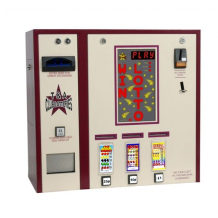 Triple Column with Note Acceptor PAYG Pull Tab Lottery Machine