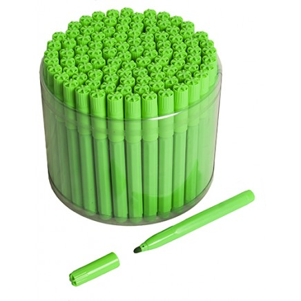 100 Green Bingo Jumbo Felt Pen Markers