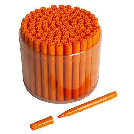 100 Orange Bingo Jumbo Felt Pen Markers
