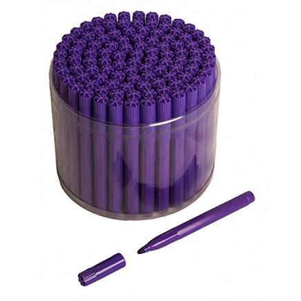 100 Purple Bingo Jumbo Felt Pen Markers