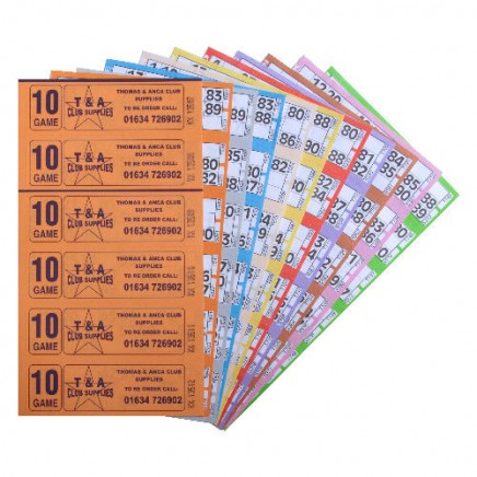 24000 10 Game Bingo Ticket Books 6 or 12 to View