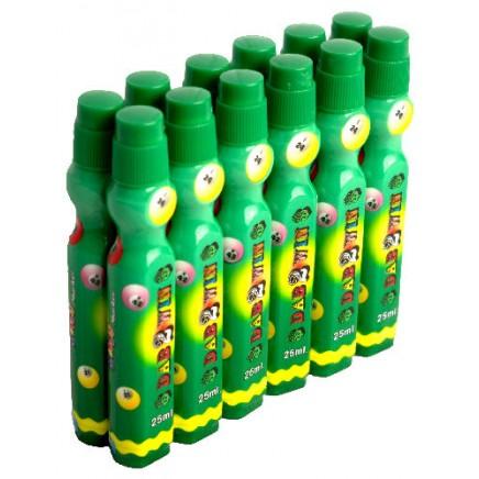 Dozen 25ml Green Slimline Bingo Dabber Markers