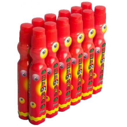 Dozen 25ml Red Slimline Bingo Dabber Markers