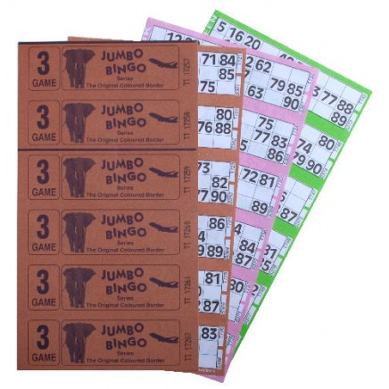 6000 3 Game Bingo Ticket Books 6 or 12 to View