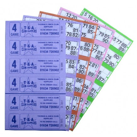 3000 4 Game Bingo Ticket Books 6 or 12 to View