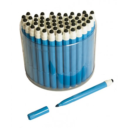50 Blue 2in1 Touchscreen Stylus Felt Marker Pen