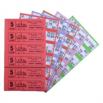 12000 5 Game Bingo Ticket Books 6 or 12 to View