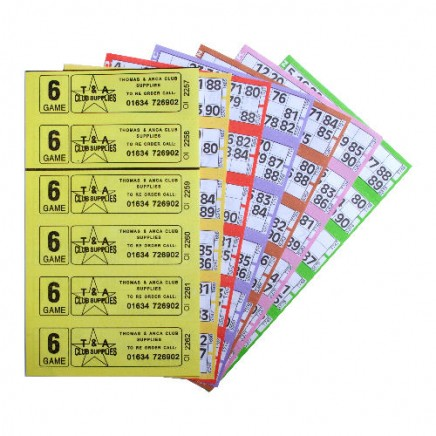 3000 6 Game Bingo Ticket Books 6 or 12 to View