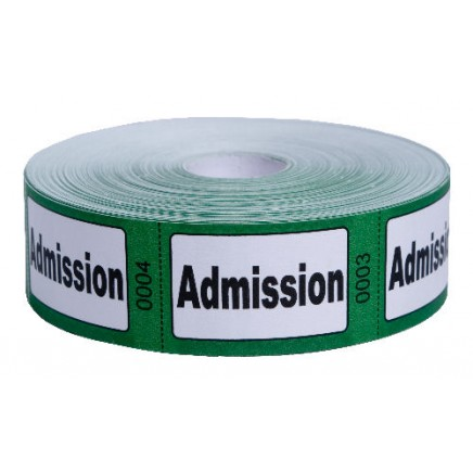 Admission Roll Tickets