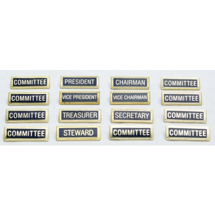 Set of Club Committee Metal Name Badges (16 Badges)