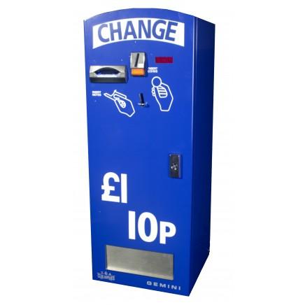 Gemini Change Machine - Dual Hopper Note & Coin Acceptance