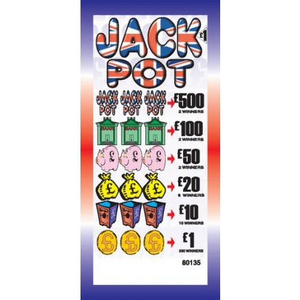 Jackpot £1 Pull Tab Lottery Ticket