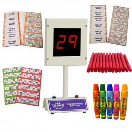 Bingo Starter Kit with Lucky Bingo Electronic Bingo Machine