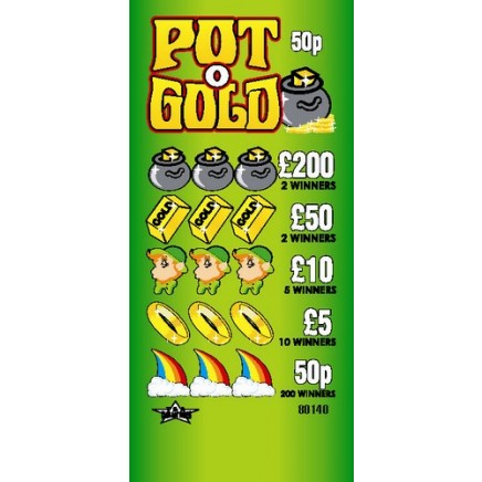 Pot O' Gold 50p Pull Tab Lottery Ticket
