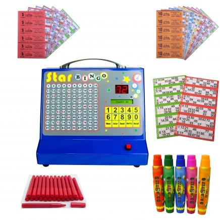 Bingo Starter Kit with Star Bingo Electronic Bingo Machine