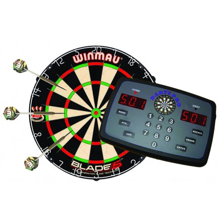 Darts Pro Bundle with Electronic Scorer, Blade 5 Dartboard & Dart Set