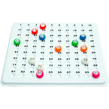 Recessed Check Tray for 22mm Bingo Balls