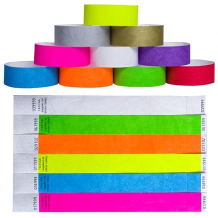 Plain Tyvek Wristbands - Pack of 100