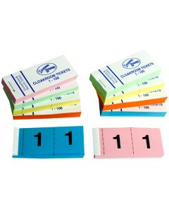 Cloakroom / Raffle Tickets 1-100 (Pack 50)