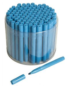 100 Blue Bingo Jumbo Felt Pen Markers
