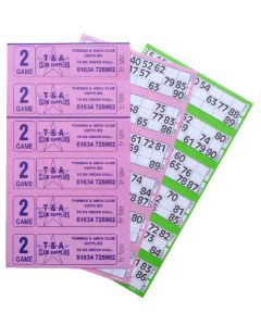 6000 2 Game Bingo Ticket Books 6 or 12 to View