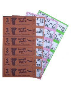 3000 3 Game Bingo Ticket Books 6 or 12 to View