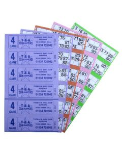 6000 4 Game Bingo Ticket Books 6 or 12 to View