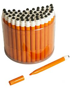 50 Orange 2in1 Touchscreen Stylus Felt Marker Pen