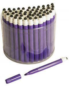 50 Purple 2in1 Touchscreen Stylus Felt Marker Pen