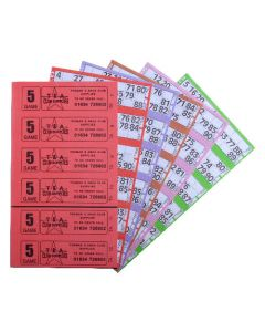 1500 5 Game Bingo Ticket Books 6 or 12 to View