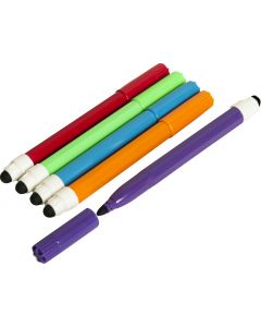 2in1 Touchscreen Stylus Felt Marker Pen Pack 5