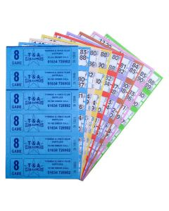 6000 8 Game Bingo Ticket Books 6 or 12 to View