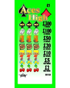 Aces High £1 Pull Tab Lottery Ticket
