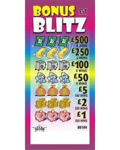 Bonus Blitz £1 Pull Tab Lottery Ticket