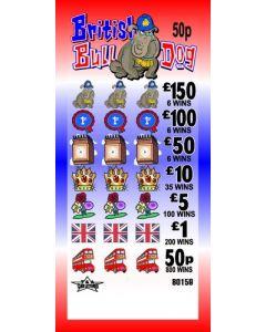 British Bulldog 50p Pull Tab Lottery Ticket