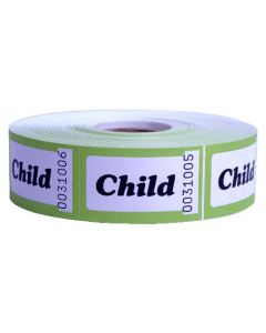 Child Admission Roll Tickets