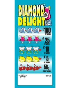 Diamond Delight 25p Pull Tab Lottery Ticket