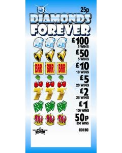 Diamonds Forever 25p Pull Tab Lottery Ticket