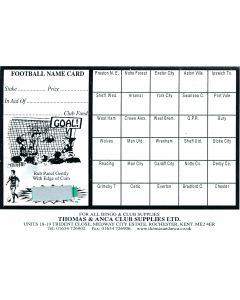 Football Fundraiser Cards 30 Teams - Pack of 25