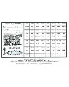 Football Fundraiser Cards 80 Teams - Pack of 25